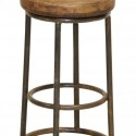 This round counter stool , 7 Charming Reclaimed Wood Bar Stools In Furniture Category