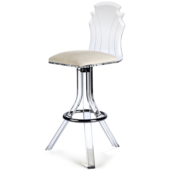 Furniture , 8 Cool Lucite Bar Stools : Tiffany Acrylic Bar Stool