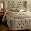 Tufted Winged Headboard , 8 Amazing Winged Headboard In Bedroom Category