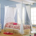 Twin Metal Canopy Bed , 7 Ideal Canopy Bed Curtains In Bedroom Category