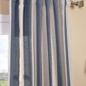 Veranda Navy Stripe Linen Blend Curtain , 7 Ultimate Navy Striped Curtains In Others Category