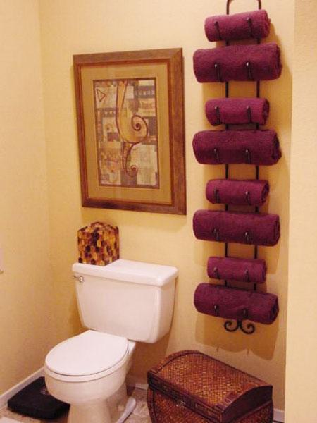 Bathroom , 4 Excellent Bathroom Towel Rack Ideas : Wall Wine Rack