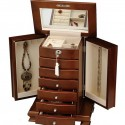 Walnut Jewelry Armoire , 7 Excellent Locking Jewelry Armoire In Furniture Category