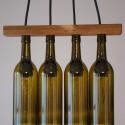 Walnut Seperator Wine Bottle Chandelier , 8 Awesome Wine Bottle Chandelier In Lightning Category