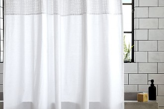 600x923px 8 Ultimate White Cotton Shower Curtain Picture in Others