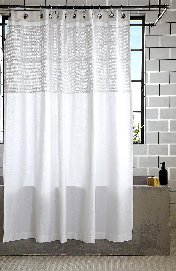 Others , 8 Ultimate White Cotton Shower Curtain : White cotton shower curtain