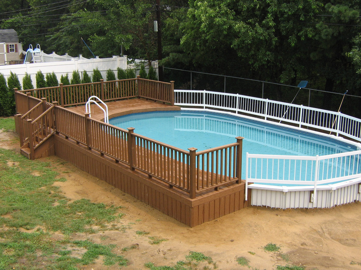 1200x900px 7 Best Above Ground Pool Decks Picture in Others