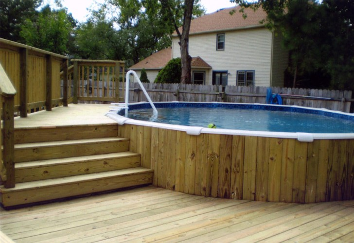 Others , 7 Superb Above Ground Pools With Decks : above ground swimming pool deck