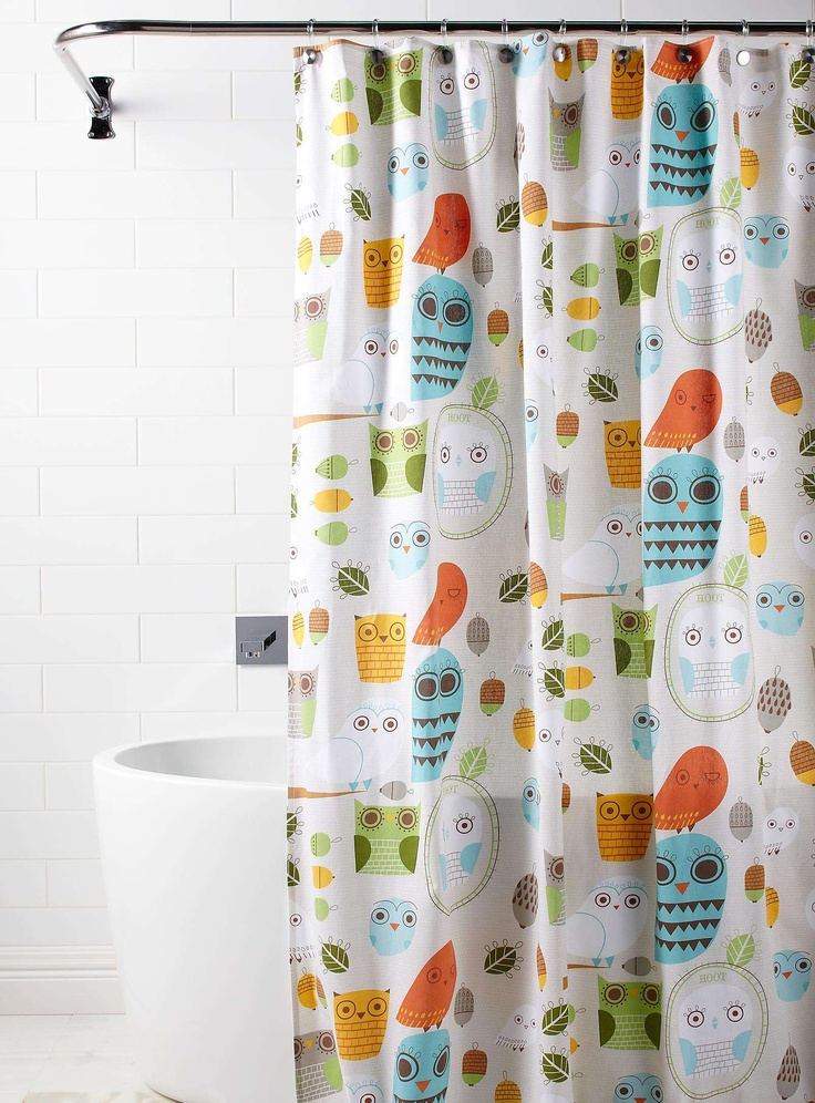 736x996px 7 Popular Owl Shower Curtain Picture in Interior Design