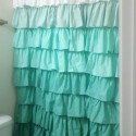 bay windows curtain rods , 7 Best Ruffled Shower Curtain In Others Category
