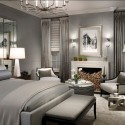 bedroom with gray wall paint , 7 Unique Grey Paints For Bedrooms In Bedroom Category