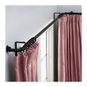 blackout curtains , 8 Nice Bay Window Curtain Rods In Interior Design Category
