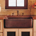 bowl sink stainless , 7 Awesome Copper Farmhouse Sink In Kitchen Appliances Category