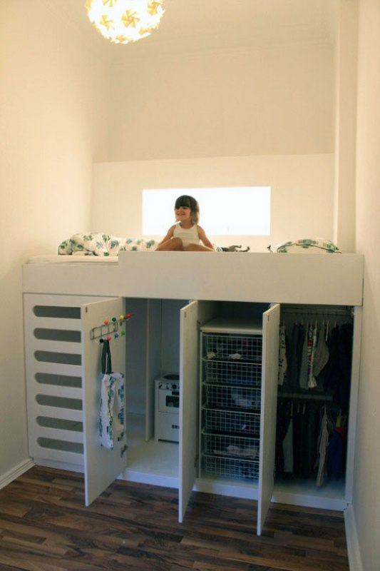 Bedroom , 8 Excellent Loft Bed With Closet Underneath :  bunk beds for kids