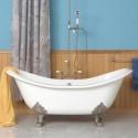 Others , 7 Good Claw foot tub shower curtain :  claw tub shower curtain rod