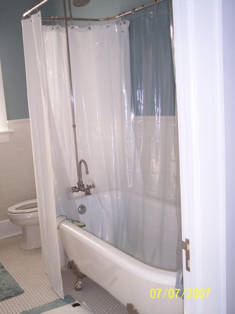 Exceptionnel Bathroom , 7 Nice Clawfoot Tub Shower Curtain : Clawfoot Tub Shower Curtain  Ideas