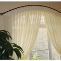 continental curtain rod , 6 Hottest Curved Window Curtain Rod In Others Category