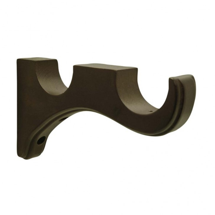Others , 7 Unique Wood Curtain Rod Brackets : curtain rod brackets