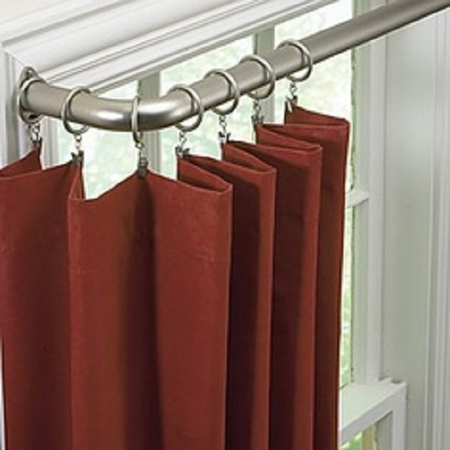 Others , 6 Hottest Curved Window Curtain Rod :  curtain rods for bay windows