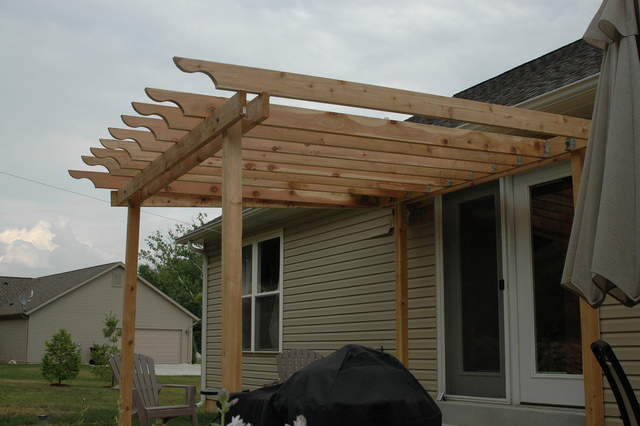 homes 7 cool pergola attached to house design pergola