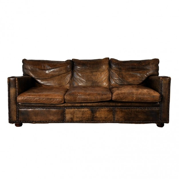 Furniture , 7 Stunning Distressed Leather Sectional : distressed leather sofa