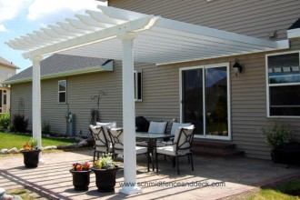 600x398px 7 Cool Pergola Attached To House Picture in Homes