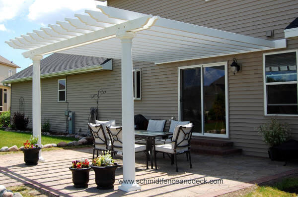 Homes , 7 Cool Pergola Attached To House :  floor plans