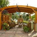 gazebo canopy , 8 Unique Curved Pergola In Homes Category