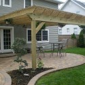 house plans , 7 Cool Pergola Attached To House In Homes Category