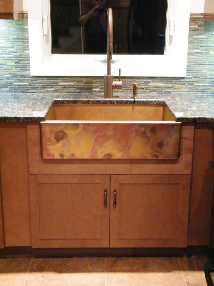 Kitchen Appliances , 7 Awesome Copper Farmhouse Sink : imported copper sink