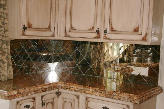 Kitchen Design 7 Unique Antique Mirror Backsplash