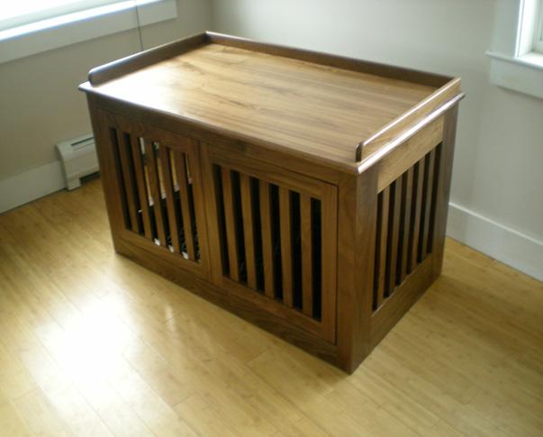 Furniture , 6 Cool Custom Dog Crates : kitchens pet furniture