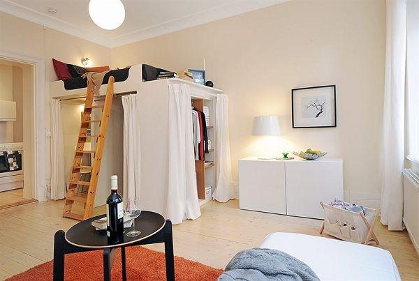 Bedroom , 8 Excellent Loft Bed With Closet Underneath : Loft Bed Closet  Underneath