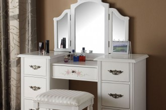 700x960px 7 Hottest Mirrored Vanity Table Picture in Furniture