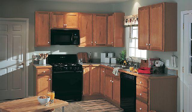 Kitchen , 7 Top Merillat Cabinets : maple toffee