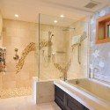 modern bathroom , 7 Amazing Doorless Shower In Bathroom Category