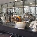 modern kitchen , 7 Unique Antique Mirror Backsplash In Kitchen Category