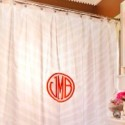 monogram shower curtains , 8 Ideal Monogram Shower Curtain In Others Category