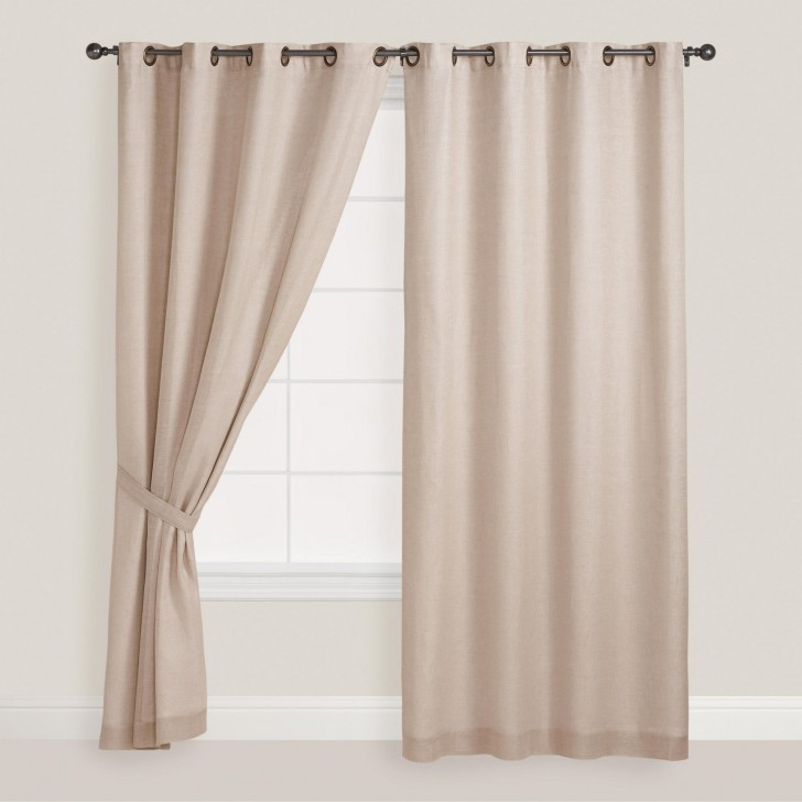Others , 8 Cool Grommet Top Curtains : natural linen grommet top curtain