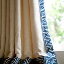 order on a tan curtain , 7 Best Greek Key Curtains In Others Category