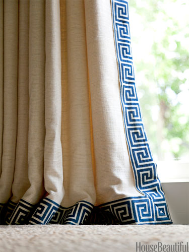 Others , 7 Best Greek Key Curtains : order on a tan curtain