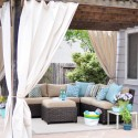 outdoor room with canvas panels , 8 Best Outdoor Curtains Target In Interior Design Category