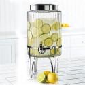 ribbed glass beverage dispenser , 7 Gorgeous Glass Beverage Dispenser With Metal Spigot In Others Category