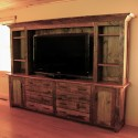rustic entertainment center , 8 Awesome Reclaimed Wood Entertainment Center In Furniture Category