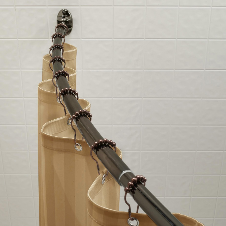 900x900px 7 Good Curved Shower Curtain Rod Picture in Others