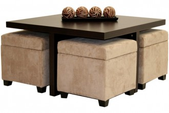 500x500px 6 Awesome Coffee Table With Ottomans Underneath Picture in Furniture