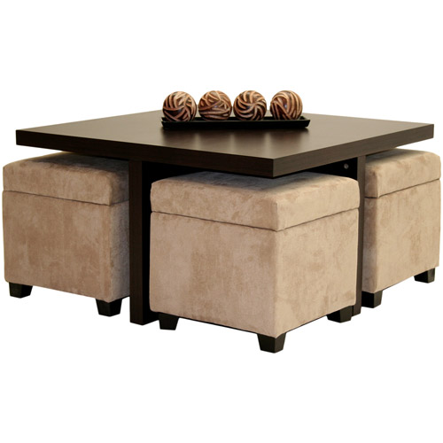 Furniture , 6 Awesome Coffee Table With Ottomans Underneath :  small coffee tables