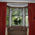 straight pole over bay window , 8 Gorgeous Bay Window Curtain Ideas In Others Category