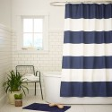 striped shower curtain , 7 Ultimate Navy Striped Curtains In Others Category