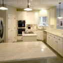 white kitchen cabinets , 7 Awesome Kashmir White Granite Countertops In Kitchen Category